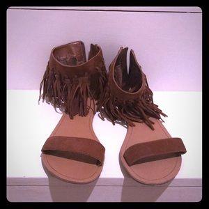 Charlotte Russe fringe festival sandals size 7
